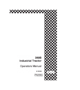Case 380b Industrial Tractor Operators Manual Download | eBooks | Automotive