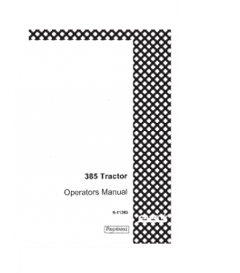 Case Ih 385 Tractor Operators Manual Download   eBooks   Automotive