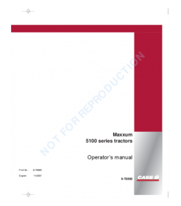Case Ih 5120 5130 5140 5150 Tractor Operators Manual Download | eBooks | Automotive