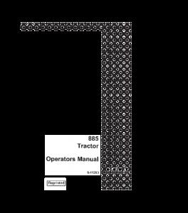 Case Ih 885 Tractor Operators Manual Download | eBooks | Automotive