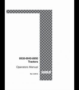 Case Ih 8930 8940 8950 Tractor Operators Manual Download   eBooks   Automotive
