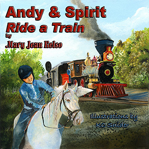 andy & spirit ride a train