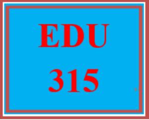 edu 315 week 3 teacher role models