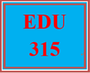 EDU 315 Week 5 Reflection Journal   eBooks   Education