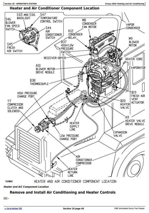 Fourth Additional product image for - John Deere 250C Articulated Dump Truck Service Repair Technical Manual (tm1786)