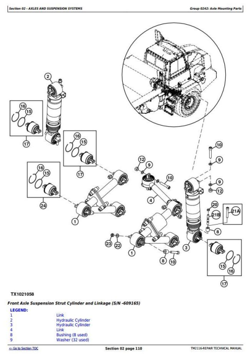 Third Additional product image for - John Deere 250D and 300D Articulated Dump Truck (BELL, DW) Service Repair Technical Manual (TM2116)