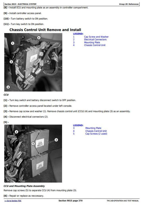 Second Additional product image for - John Deere 250D and 300D Articulated Dump Truck (SN.609166-626760) Diagnostic Service Manual (TM1160)