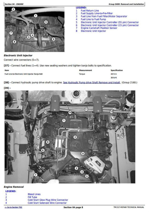 Third Additional product image for - John Deere 350D,400D Articulated Dump Truck(SN:608490-626762)Service Repair Technical Manual(TM1317)