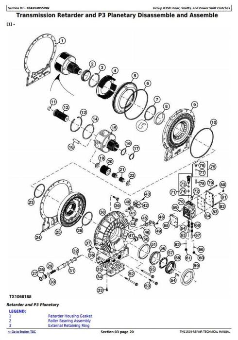 Second Additional product image for - John Deere 350D,400D Ser.2 (SN.626763-642001) Articulated Dump Truck Service Repair Manual (TM11519)