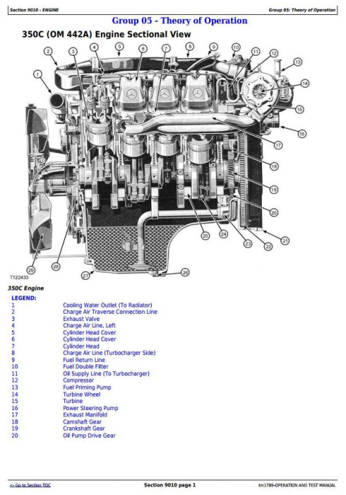 Second Additional product image for - John Deere 350C and 400C Articulated Dump Truck Diagnostic, Operation & Test Service Manual (tm1789)