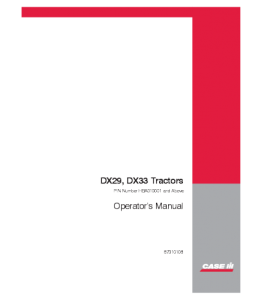 Case Ih Dx29 Dx33 Tractor Operators Manual Download | eBooks | Automotive