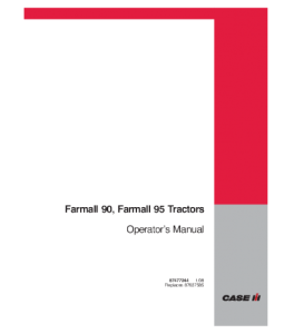 Case Ih Farmall 90 95 Tractor Operators Manual 87477244   eBooks   Automotive