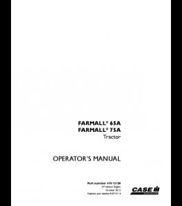 Case Ih Farmall 65a Farmall 75a Tractor Operators Manual Download | eBooks | Automotive