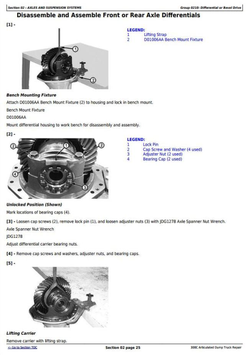 Second Additional product image for - John Deere 300C Articulated Dump Truck Service Repair Technical Manual (tm1788)