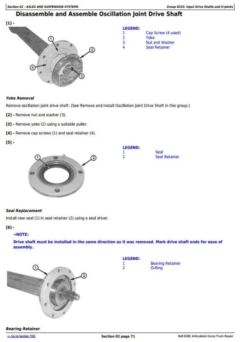 Second Additional product image for - BELL B30C Articulated Dump Truck Service Repair Technical Manual  (tm1814)