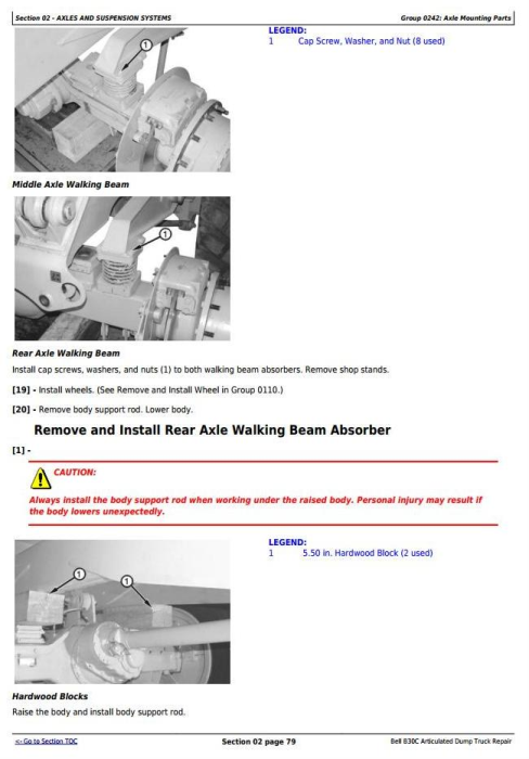 Third Additional product image for - BELL B30C Articulated Dump Truck Service Repair Technical Manual  (tm1814)