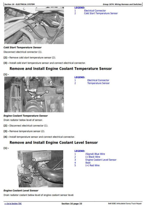 Fourth Additional product image for - BELL B30C Articulated Dump Truck Service Repair Technical Manual  (tm1814)