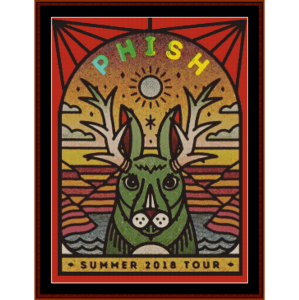phish summer 2018 tour cross stitch pattern by cross stitch collectibles