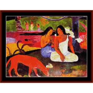 a seashore, 1887 - gauguin cross stitch pattern by cross stitch collectibles