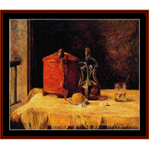 at the window - gauguin cross stitch pattern by cross stitch collectibles