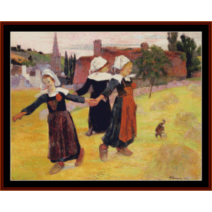 breton girls dancing - gauguin cross stitch pattern by cross stitch collectibles