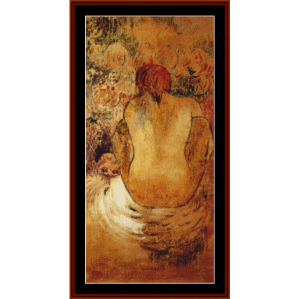 crouching tahitian woman - gauguin cross stitch pattern by cross stitch collectibles