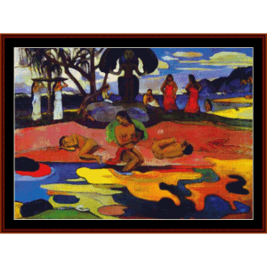 day of god - gauguin cross stitch pattern by cross stitch collectibles