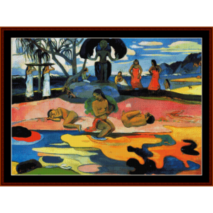 el dia de los dioses - gauguin cross stitch pattern by cross stitch collectibles