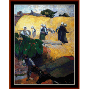 Haymaking - Gauguin cross stitch pattern by Cross Stitch Collectibles | Crafting | Cross-Stitch | Other