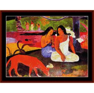 joyousness - gauguin cross stitch pattern by cross stitch collectibles