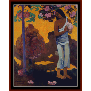 month of may - gauguin cross stitch pattern by cross stitch collectibles