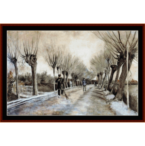 road in etten - gauguin cross stitch pattern by cross stitch collectibles