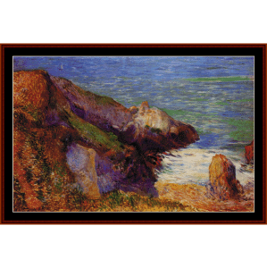 rocks on the breton coast - gauguin cross stitch pattern by cross stitch collectibles