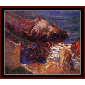 rocks on the coast - gauguin cross stitch pattern by cross stitch collectibles