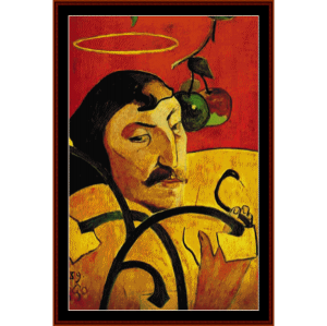 self portrait - gauguin cross stitch pattern by cross stitch collectibles
