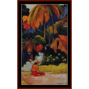 the moment of truth - gauguin cross stitch pattern by cross stitch collectibles