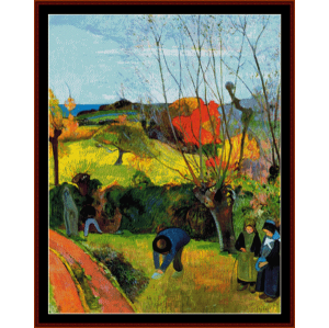 the willow - gauguin cross stitch pattern by cross stitch collectibles