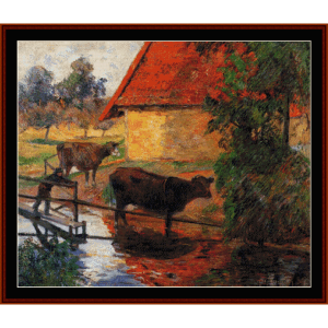 watering plac e, 1885 - gauguin cross stitch pattern by cross stitch collectibles