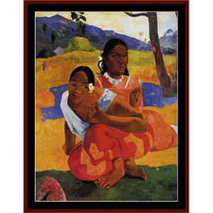 when will you marry? - gauguin cross stitch pattern by cross stitch collectibles