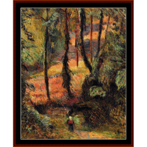 wooded path, 1884 - gauguin cross stitch pattern by cross stitch collectibles