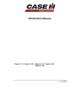 Case Ih Magnum 215 245 275 305 335 Tractor Operators Manual Download | eBooks | Automotive