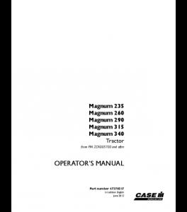 Case Ih Magnum 235 260 290 315 340 Tractor Operators Manual Download | eBooks | Automotive