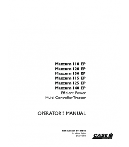 Case Ih Maxxum 110 Ep 115 Ep 120 Ep 125 Ep 130 Ep 140 Ep Multi-Controller Tractor Operators Manual Download | eBooks | Automotive