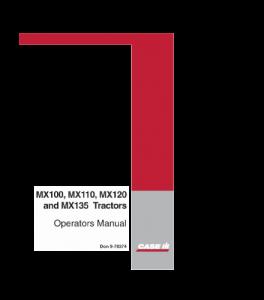 Case Ih Mx100 Mx110 Mx120 Mx135 Tractor Operators Manual Download | eBooks | Automotive