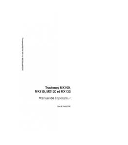 Case Ih Mx100 Mx110 Mx120 Mx135 Tractor Operators Manual Download   eBooks   Automotive