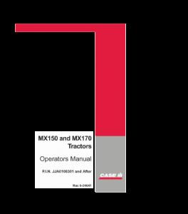 Case Ih Mx150 Mx170 Tractor Operators Manual Download   eBooks   Automotive