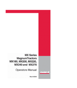 Case Ih Mx180 Mx200 Mx220 Mx240 Mx270 Magnum Tractor Operators Manual Download | eBooks | Automotive