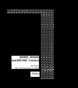 Case Ih Mx80c Mx90c Mx100c Tractor Operators Manual Download   eBooks   Automotive