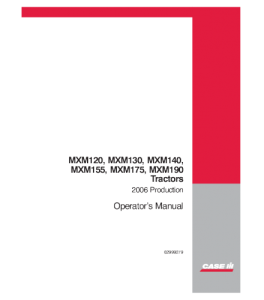 Case Ih Mxm120 Mxm130 Mxm140 Mxm155 Mxm175 Mxm190 Tractor Operators Manual Download | eBooks | Automotive