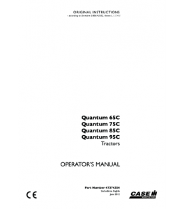 Case Ih Quantum 65c Quantum 75c Quantum 85c Quantum 95c Tractor Operators Manual Download | eBooks | Automotive